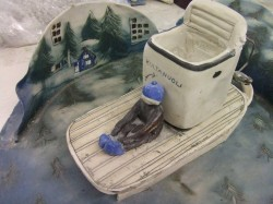 ヘルヤの作品「すてられた洗濯機」